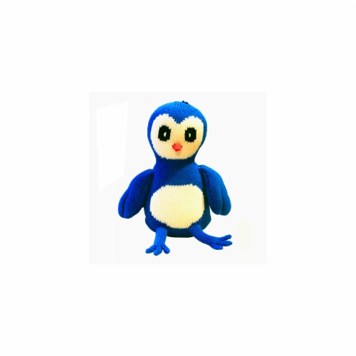 Knit Blue Bird, 7 in. Toy Perspective: front