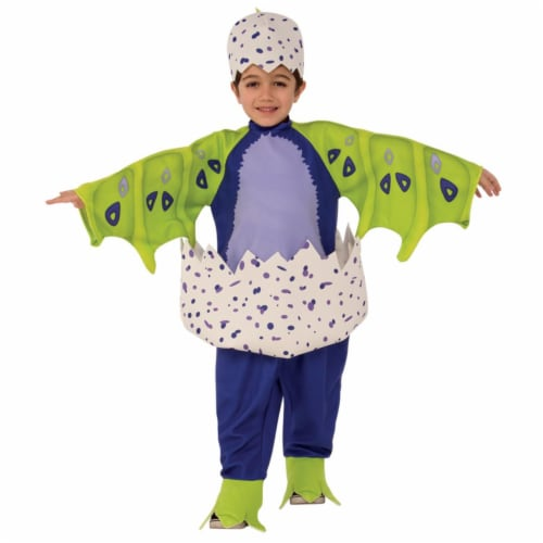 Small & Medium Draggles Hatchimal Costume, Dark Purple - 3T-4T Perspective: front