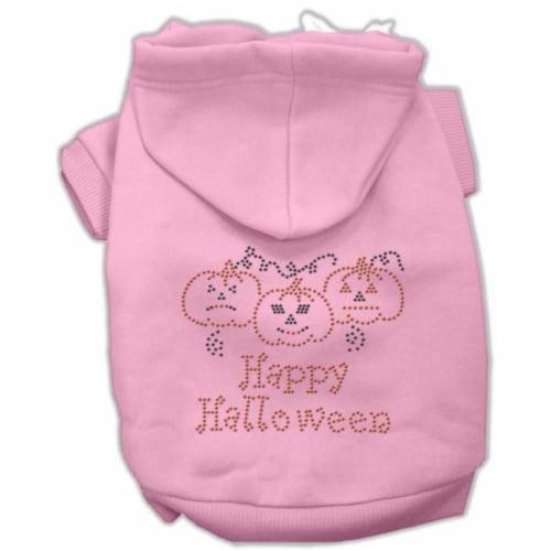 Happy Halloween Rhinestone Hoodies Pink S - 10 Perspective: front