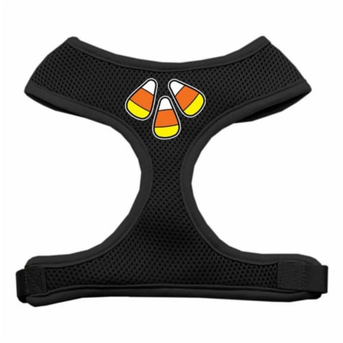 Candy Corn Design Soft Mesh Harnesses Black Medium Perspective: front