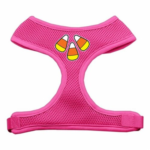 Candy Corn Design Soft Mesh Harnesses Pink Medium Perspective: front