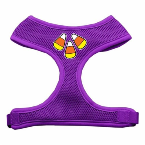 Candy Corn Design Soft Mesh Harnesses Purple Medium Perspective: front