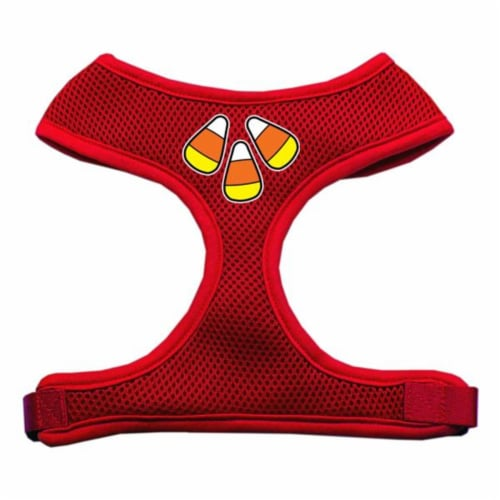 Candy Corn Design Soft Mesh Harnesses Red Small Perspective: front