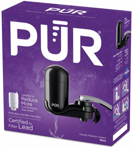 Pur Basic Faucet-Mount Water Filtration System - Black Perspective: front