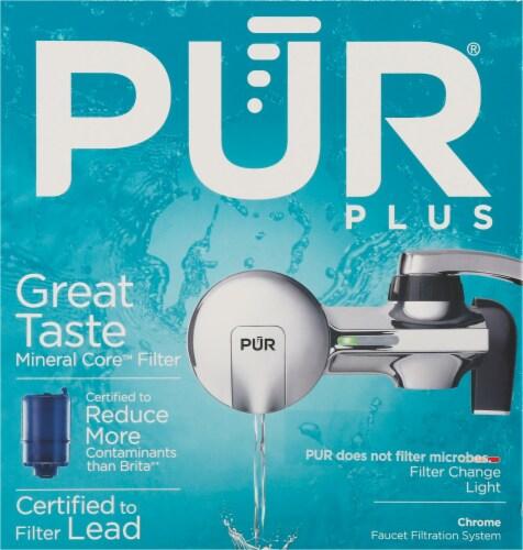 Pur Plus Faucet Filtration System - Chrome Perspective: front