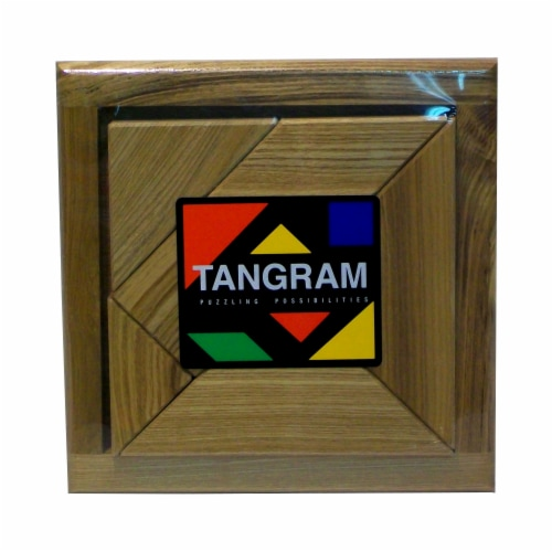 Square Root Tangram Brain Teaser Puzzle Perspective: front