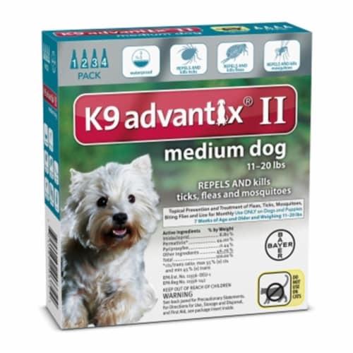 Advantix  II K9 Flea Tick & Mosquito Treatment Medium Dog 11-20 lbs Perspective: front