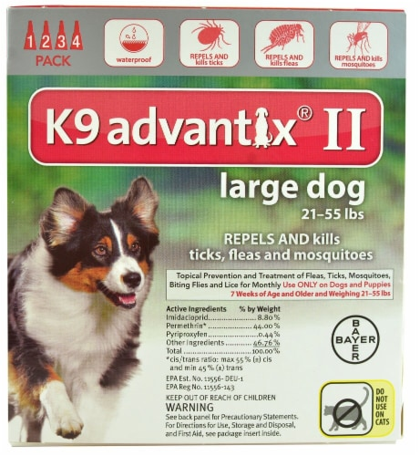 Advantix II K9 Large Dog 21-55 lb Flea Tick & Mosquito Treatment Perspective: front