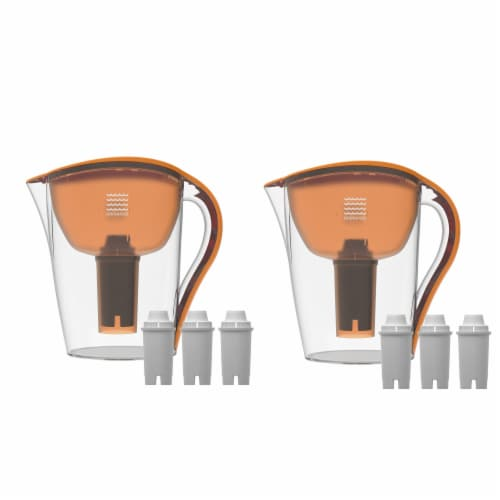 2 Drinkpod Ultra Premium Alkaline Water Pitchers 3.5L Capacity Includes 6 Filters Perspective: front