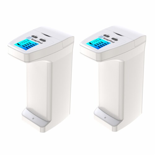 2 Pack Automatic Touchless Soap Dispenser High Capacity for Any Liquid Hand Sanitizer Perspective: front