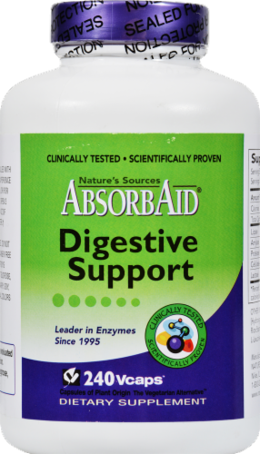 AbsorbAid Digestive Support Dietary Supplement Perspective: front