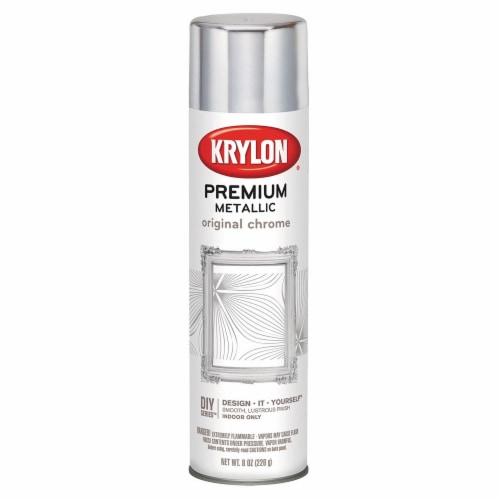 Krylon® Premium Metallic Original Chrome Finish Spray Perspective: front