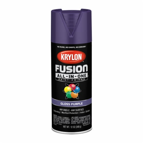 Krylon® Fusion All-In-One Gloss Paint & Primer - Purple Perspective: front