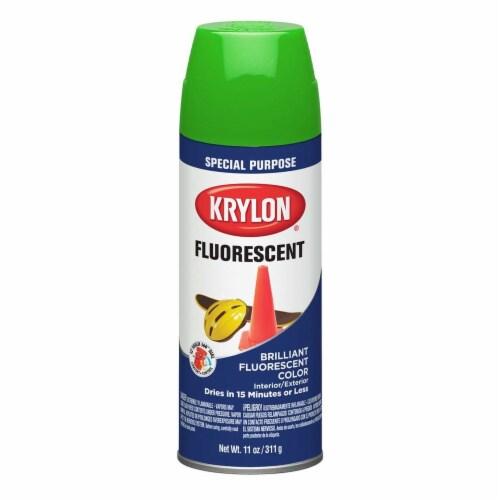 Krylon® Fluorescent Spray Paint - Green Perspective: front