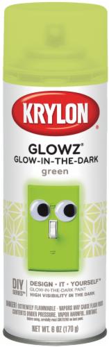 Krylon® Glowz® Green Glow-in-the-Dark Spray Paint Perspective: front