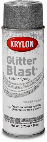 Krylon® Glitter Blast™ Glitter Spray - Silver Flash Perspective: front
