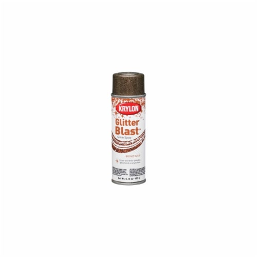 Krylon 472302 Glitter Blast Aerosol Spray 5.75 Ounces-Bronze Blaze Perspective: front