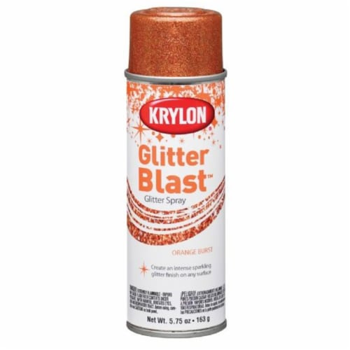 Krylon  Orange burst  Glitter Blast Spray Paint  5.75 oz. - Case Of: 6; Perspective: front