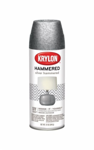 Krylon  Hammered  Silver  Spray Paint  12 oz. - Case Of: 1; Perspective: front