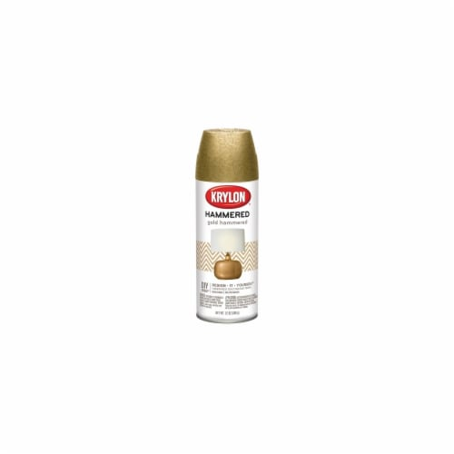 Krylon HF-3902 12 oz Hammered Finish Paint, Gold Perspective: front