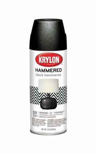 Krylon  Hammered  Black  Spray Paint  12 oz. - Case Of: 1; Perspective: front