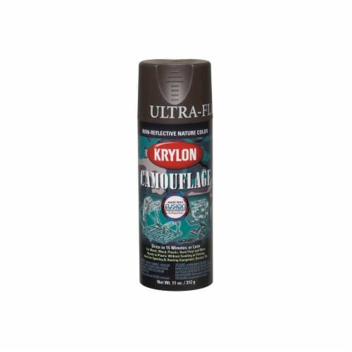 Krylon® Camouflage Fusion Ultra-Flat Spray Paint - Brown Perspective: front