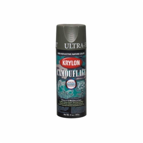 Krylon® Camouflage Fusion Ultra-Flat Spray Paint - Olive Perspective: front