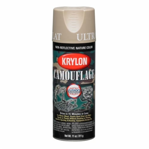 Krylon® Camouflage Fusion Ultra-Flat Spray Paint - Sand Perspective: front