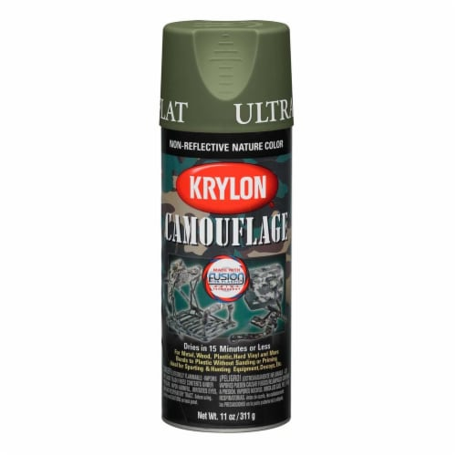 Krylon® Camouflage Fusion Ultra-Flat Spray Paint - Woodland Perspective: front