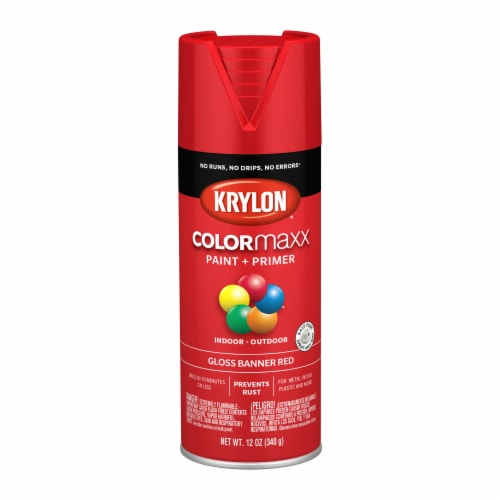 Krylon® Colormaxx Banner Red Gloss Paint & Primer Perspective: front
