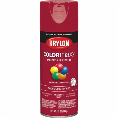 Krylon® ColorMaxx Gloss Cherry Red Spray Paint & Primer Perspective: front