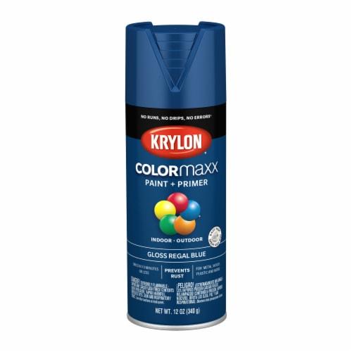 Krylon® Colormaxx Gloss Paint & Primer - Regal Blue Perspective: front