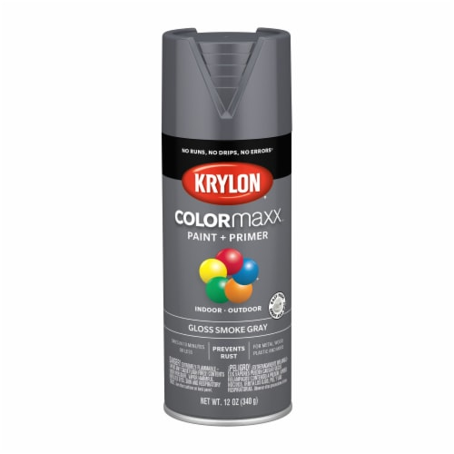 Krylon® ColorMaxx Indoor/Outdoor Paint and Primer - Gloss Smoke Gray Perspective: front