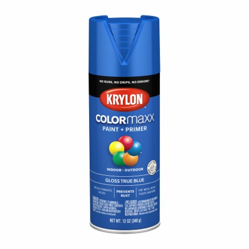 Krylon® ColorMaxx Gloss True Blue Indoor/Outdoor Spray Paint and Primer Perspective: front