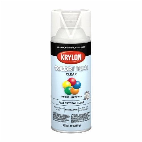 Krylon® Colormaxx Flat Crystal Clear Spray Paint Perspective: front