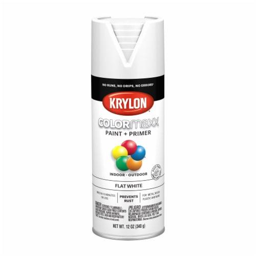 Krylon® Colormaxx Flat White Spray Paint & Primer Perspective: front