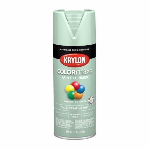 Krylon® ColorMaxx Indoor/Outdoor Paint and Primer - Satin Catalina Mist Perspective: front