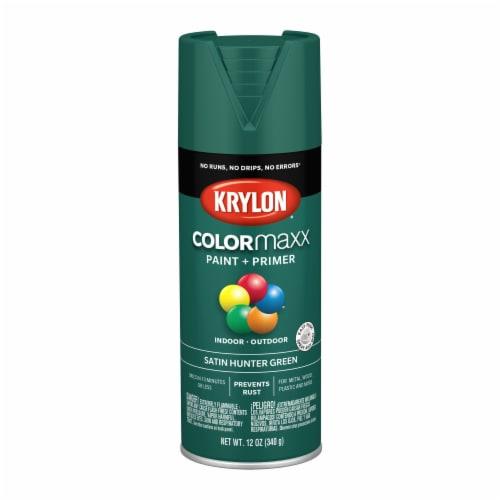 Krylon® ColorMaxx Satin Hunter Green Indoor/Outdoor Spray Paint and Primer Perspective: front