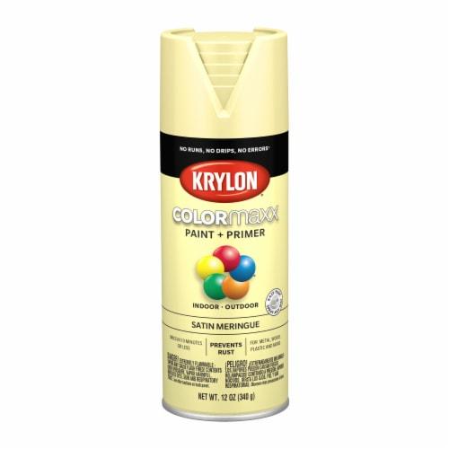 Krylon® ColorMaxx Indoor/Outdoor Paint and Primer - Satin Meringue Perspective: front