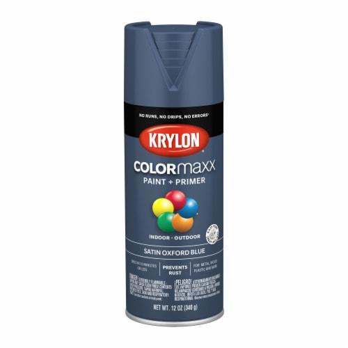 Krylon® ColorMaxx Satin Oxford Blue Indoor/Outdoor Spray Paint + Primer Perspective: front
