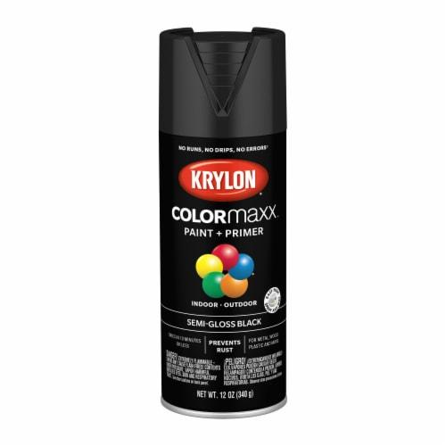 Krylon® ColorMaxx Semi-Gloss Black Indoor/Outdoor Spray Paint + Primer Perspective: front