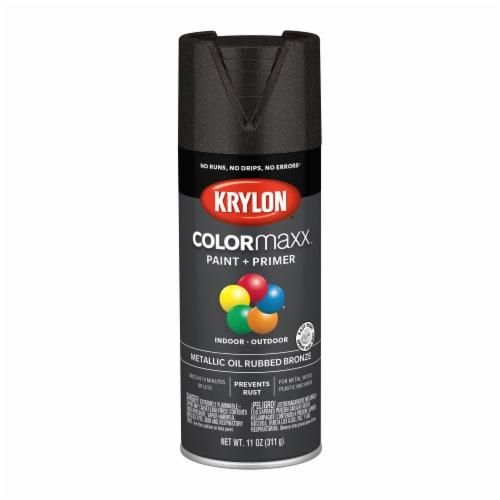 Krylon® ColorMaxx  Metallic Oil Rubbed Bronze Indoor/Outdoor Paint and Primer Perspective: front