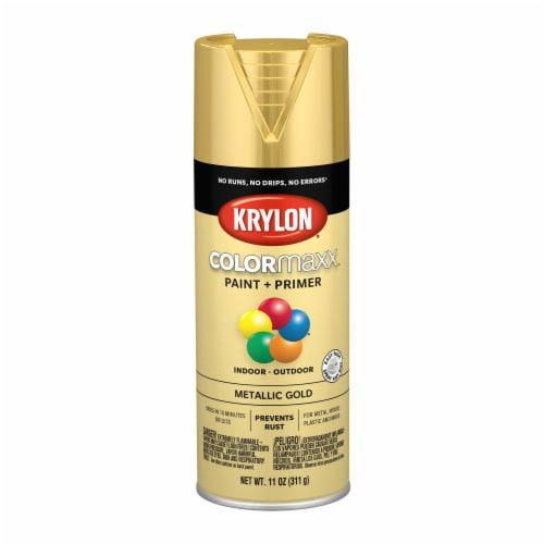 Krylon® ColorMaxx Metallic Gold Indoor/Outdoor Spray Paint + Primer Perspective: front