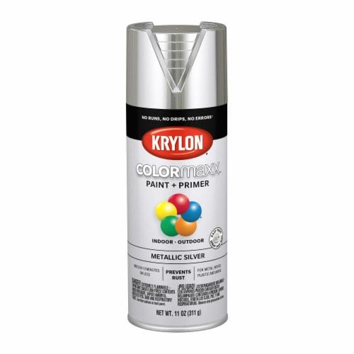 Krylon® ColorMaxx Indoor/Outdoor Paint and Primer - Metallic Silver Perspective: front
