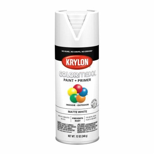 Krylon® ColorMaxx Matte White Indoor/Outdoor Spray Paint + Primer Perspective: front