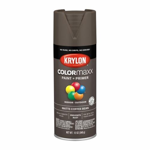Krylon® ColorMaxx Matte Coffee Bean Indoor/Outdoor Spray Paint + Primer Perspective: front