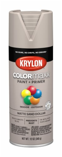 Krylon® ColorMaxx Matte Sand Dollar Spray Paint + Primer Perspective: front