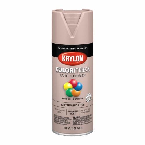 Krylon® ColorMaxx Matte Wild Rose Indoor/Outdoor Paint and Primer Perspective: front