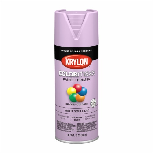 Krylon® ColorMaxx Soft Lilac Matte Indoor/Outdoor Paint and Primer Perspective: front