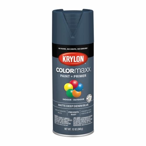Krylon® ColorMaxx Matte Deep Denim Blue Indoor/Outdoor Spray Paint + Primer Perspective: front